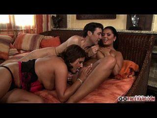 Big Natural Tit Threesome