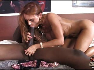 Chastity pregnant lick clean up