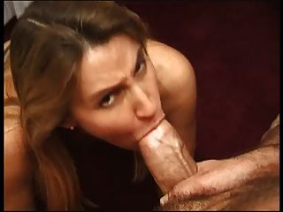 Cum covered milf gets throat fucked